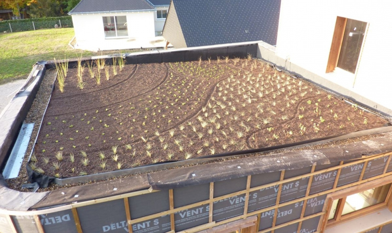 Travaux effectués sur une future toiture végétalisée